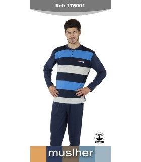 Men's cotton woven pajamas muslher 175001