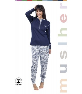 Woman pyjama in 100% cotton Muslher 176605
