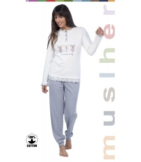 Funny woman pajama in cotton Muslher 176607