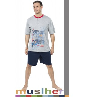Men's Summer Cotton Pajamas Muslher 185004