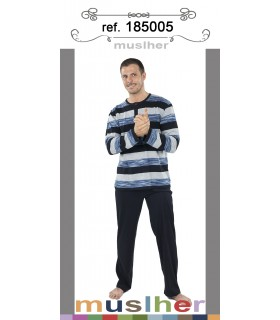 Men's long-sleeved cotton pajamas Muslher 185005