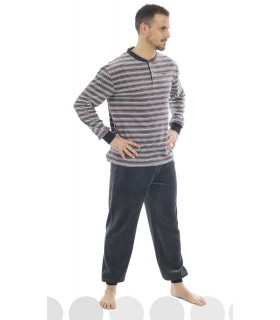 Men's warm winter pajamas 195609