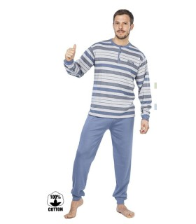 Men's 100% Cotton Muslher Pajamas 175618