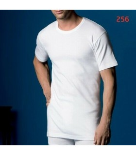 Pack 3 men thermal t-shirts short sleeves smooth cotton flag 256