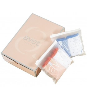 Pack of 2 midi panties stamped with Avet 32413 cotton