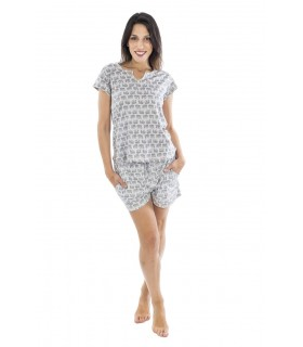 Women cotton summer pajamas Muslher 206022