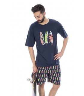 Surf printed Men's pajamas Muslher 205030