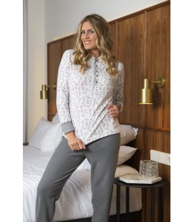Printed pajamas in warm fabric for women Muslher 206603