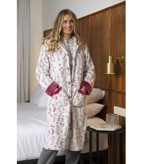 Muslher 208602 Women's Long Stamped Robe