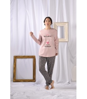 Printed knit pajamas with special sizes for women Olympus M21107
