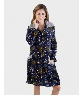 Warm house-to-house robe with Massana L696209 buttons