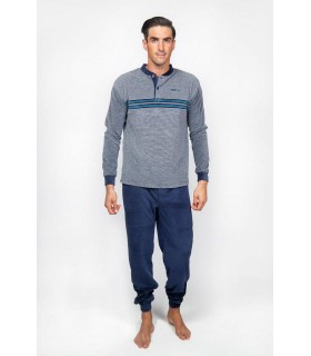 Winter pajamas for men in velvet fabric - velour Muslher b205600