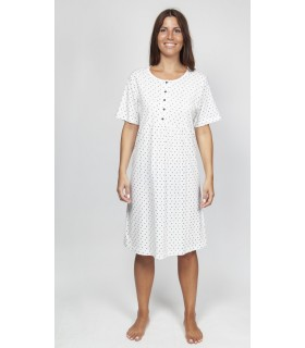 Short sleeve nightgown ideal for breast-feeding to breastfeed your baby Muslher 219114