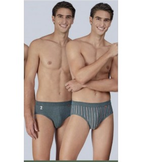 Pack of 2 slip underpants Seamless cotton set 133